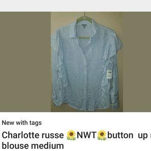 Charlotte russe ruffle blouse
